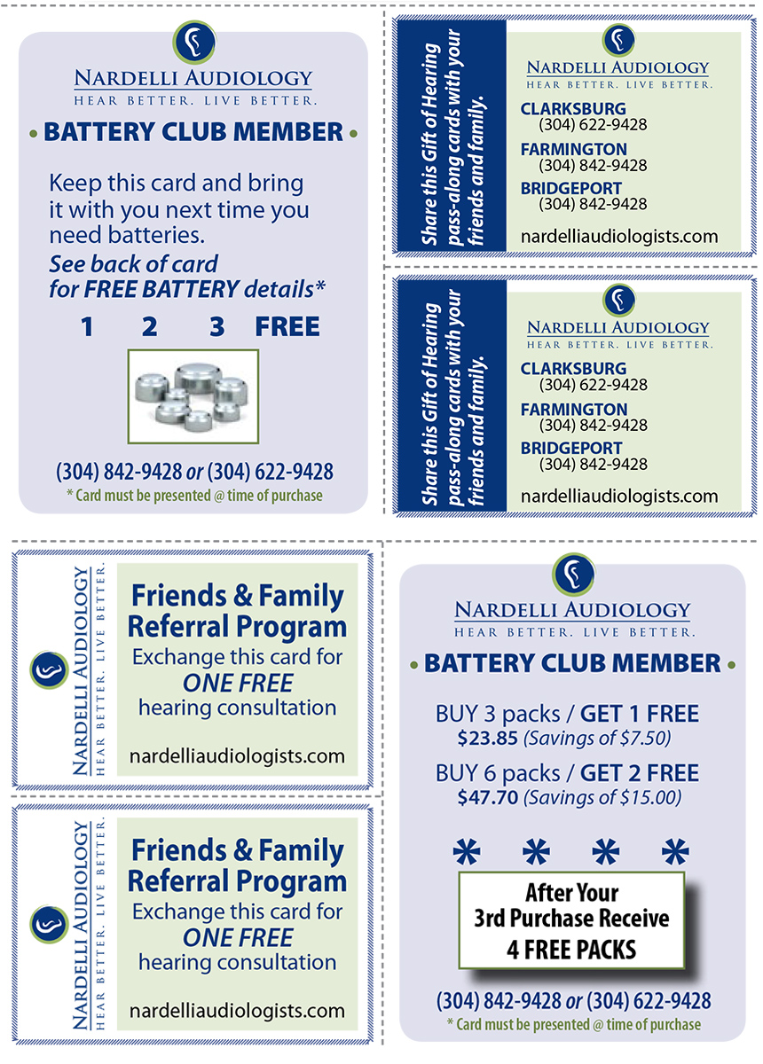 Hearing Aid Batteries - Battery Club - Nardelli Audiology